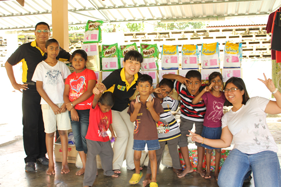 Visiting Orphanage at Tara Bhavan Home 2012
