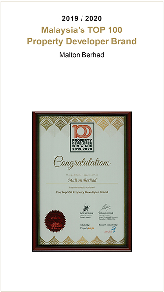 Malton Berhad - Top 100 Property Developer Brand